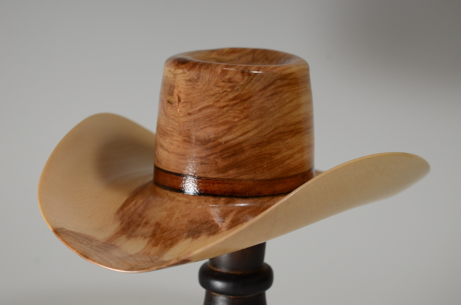 wood cowboy hat cherry mini